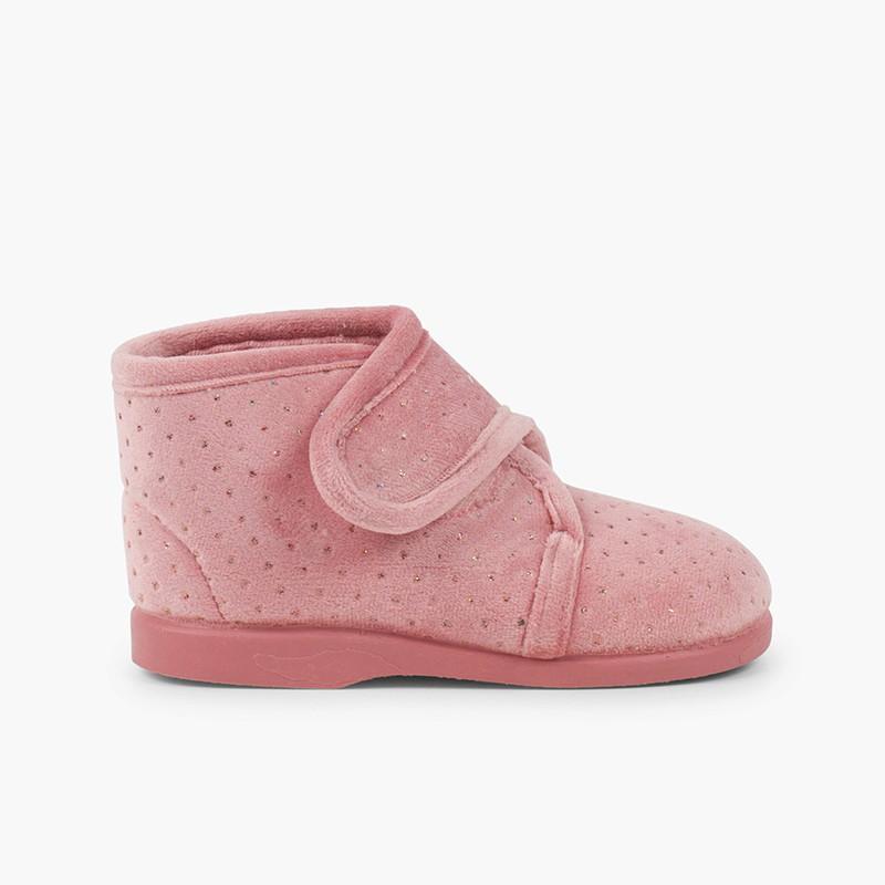 Pantofole per casa stivali brillanti