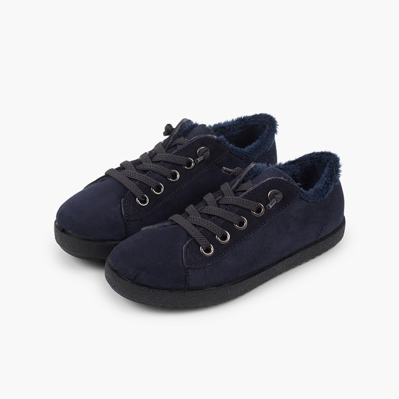 Sneakers inverno bambini con interno pelo