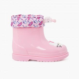 Hello Kitty stivali di gomma scollati Rosa