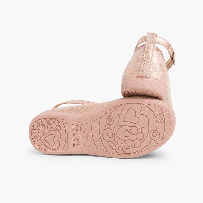Scarpe con cinturino bambina fibbia stringhe incrociate