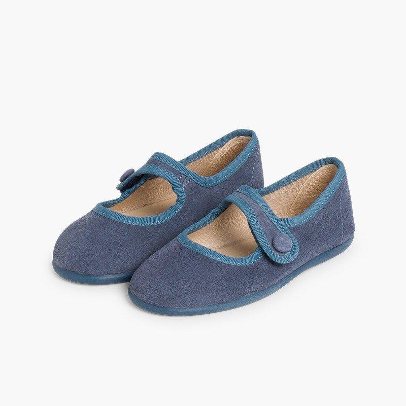 Scarpe bambina scamosciate Velcro