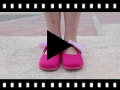 Video from Scarpe tela Velcro con fiocco di Vichy