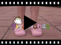 Video from Scarpe di tela velcro fiocco a pois