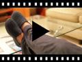 Video from Pantofole casa bambini Lana Trecce