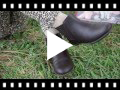 Video from Stivaletti bambina pelle con elastico laterale