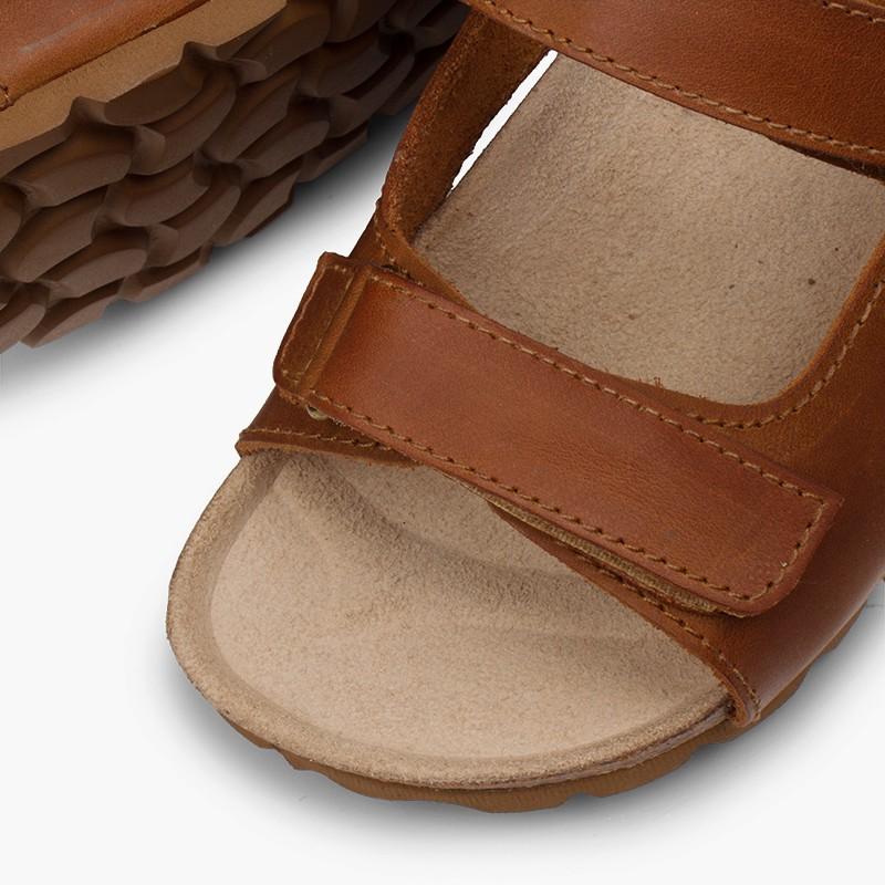 Sandali pelle bio bambino doppio velcro