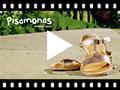 Video from Sandali pelle liscia metallizzata