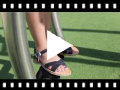 Video from Sandali pelle liscia incrociati