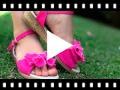 Video from Sandali tela fibbia con fiocco