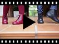 Video from Stivali tronchetti per bambina pelle