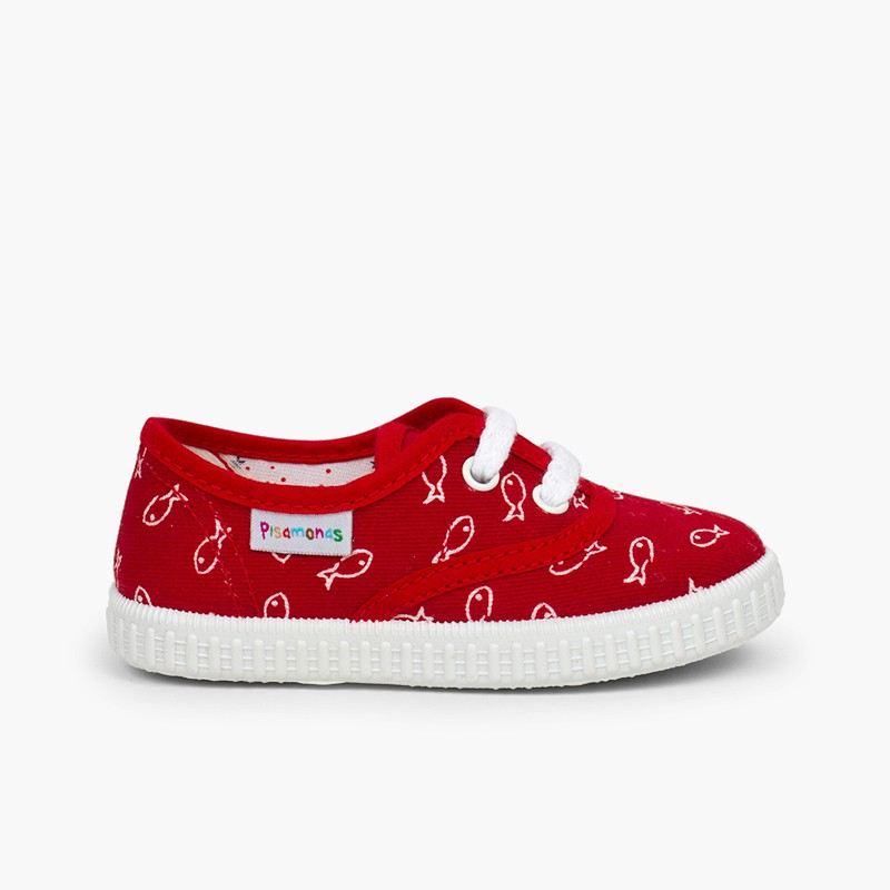 Sneakers per bambini stampa pesci