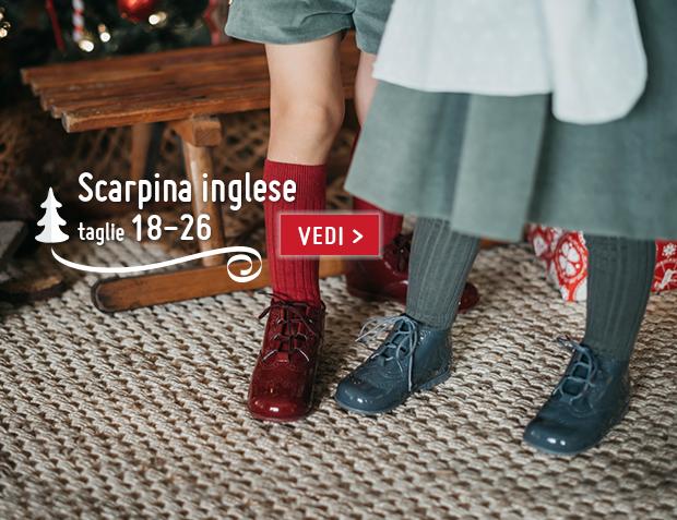 Scarpe inglesi per bambini Natale 2017