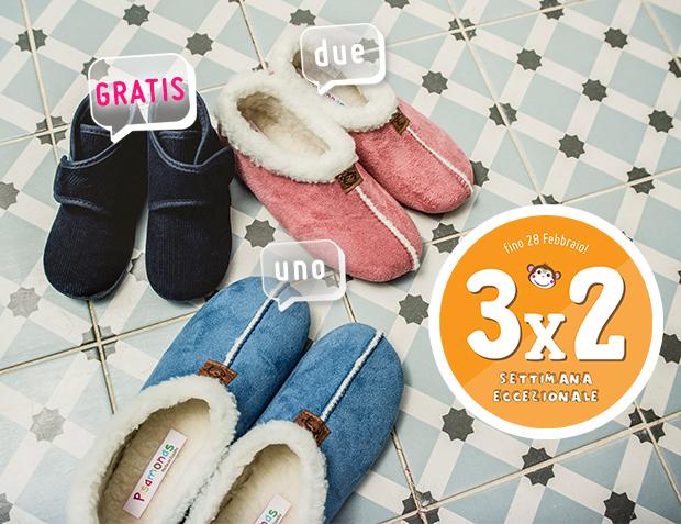 3x2 Pantofole