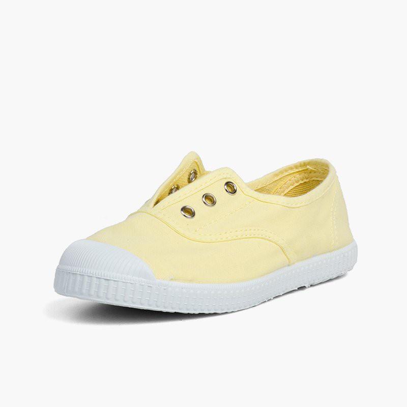 Sneakers di tela senza lacci