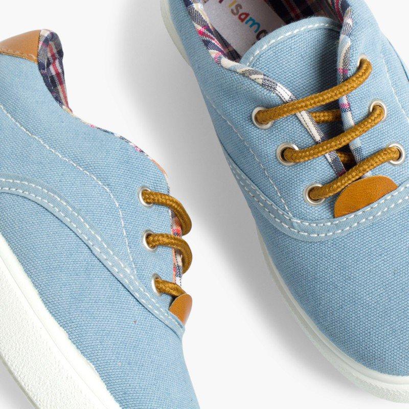Sneakers Contrasto Tela e Lacci Pisamonas