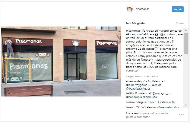 Instagram pisamonas Bilbao Valencia Sevilla