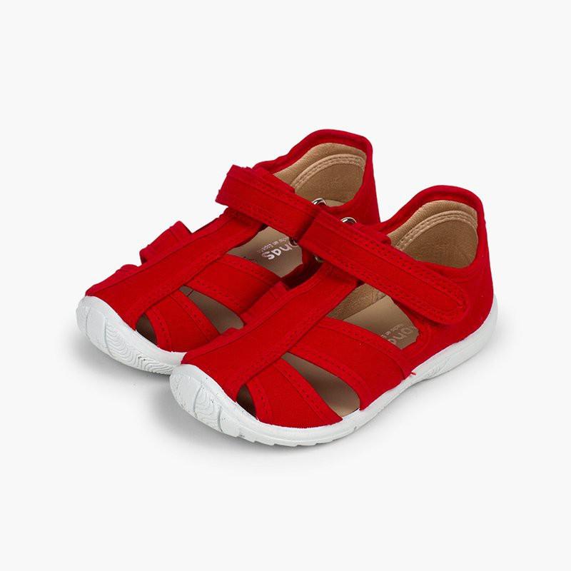 sandali T-bar con chiusura in velcro Pisamonas