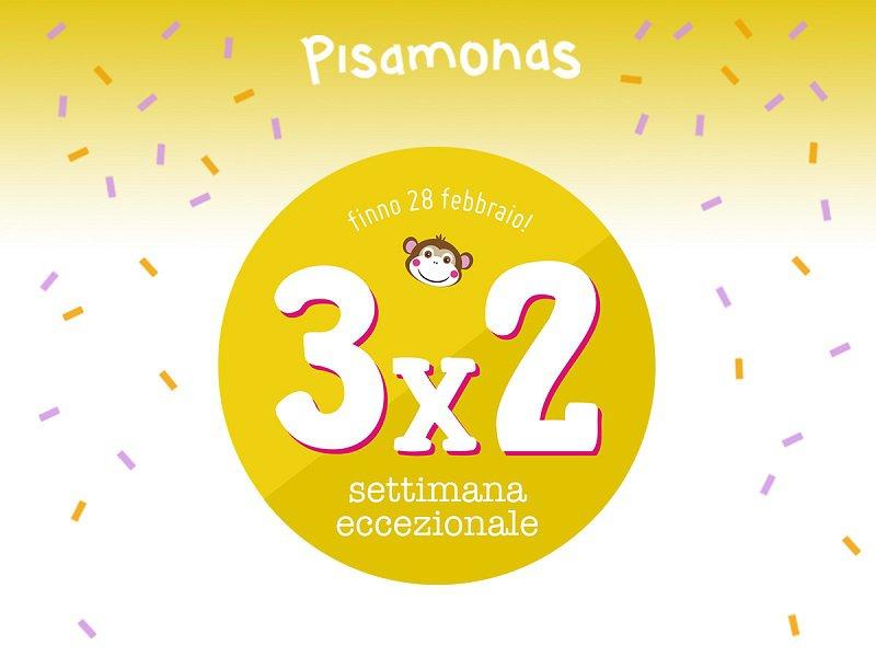 Pisamonas 3x2 Promozione